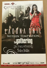 LACUNA COIL 2007 PROMO TOUR POSTER for Karma CD Within Temptation IN THIS MOMENT
