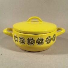 1960s Enameled Yellow & Black FISSLER ASTA DESIGNER COOKWARE Germany Casserole