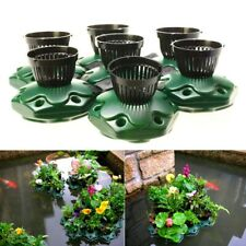 7 pcs Aquaponics Floating Pond Planter Pots Kit - Hydroponic Island Tropical