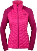 NWT Womens Pink The North Face Thermoball Hybrid Hoodie Jacket Size Large