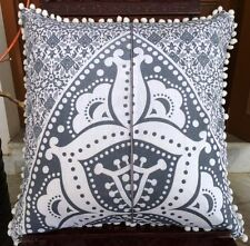 Large Grey Ombre Cushion Cover 22x22 Home Decor 2 Pcs Throw Sofa Pillow Cases