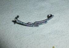 & pierced ears earring Long Rinhestones encrusted single cuff