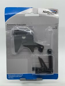 National Hardware N101-337 V22 Auto Gate Latch Outswing-Blk