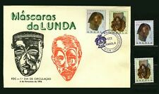 Angola 1976 - Traditional Masks of Lunda region - FDC + set MNH Sc#595-596