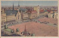 uralt AK Leipzig Karl-Marx-Platz früher Augustusplatz Straßenbahn Tramp 1947