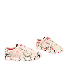 GEOX RESPIRA Kids Sneakers EU27 UK9 US10  Breathable Lame Paint Splatter Effect