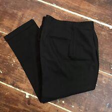 Vintage 50s Olive Pleated Gabardine Trousers Mens 36x31 Rockabilly Dress Pants