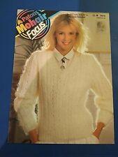 Patons Mohair Women's V-Neck Sweater Knitting Pattern 7910