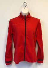 NWOT Pirelli Milano 1872 Zip-up Top  Red  Made in Italy  Size L  Cotton Blend