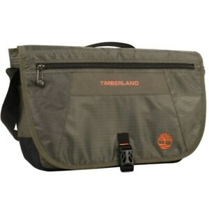 """NWT Timberland Men's Twin Mountain Messenger Bag Olive 11.5"""" H x 16.5"""" W x 4.5 D"""