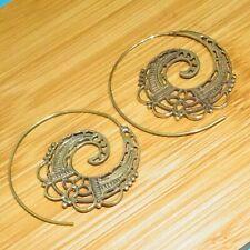 """925 Solid Brass Drop / Dangle  Gold Plated Girl,s Women,s Earrings 1.75 """" ZZ8"""