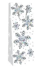 Snowflake Christmas Bottle Bag Christmas Gift Bag With Tag
