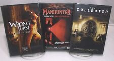 3 DVD Horror Movie Pack #47 Wrong Turn 3, Manhunter, The Collector