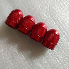 4 X ALUMINUM BULLET STYLE TIRE/RIM VALVE/WHEEL AIR PORT COVER STEM CAP RED