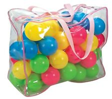 50 Plastic Ball Pit Balls in PVC Carry Bag  **BRAND NEW**