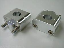 Lenkerklemmen / Klemmböcke Adapter 22 auf 28 mm Fatbar Lenker Enduro MX