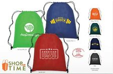 Personalized Non-Woven Drawstring Backpack Printed With Your Logo / Name 150 QTY