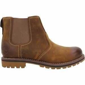 Timberland Larchmont Chelsea Medium Brown Nubuck TB0A13HZ 214 Men's Size 9.5