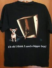 TACO BELL Yo Quiero dog med tee Chihuahua T shirt Godzilla 1998 lizard box