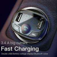Wireless Bluetooth Car FM Transmitter MP3 Player USB Charger d d1 a X8D2