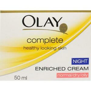 3 x Olay Complete Enriched Night Cream Normal/Dry/Oily 50ml