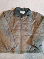 mens columbia puffer jacket xl brown/olive green titanium interchange NWOT