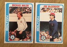 2 Trade Cards Bolton Players by Topps 1979 Series Footballers (Pale Blue Back)