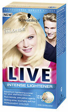 Schwarzkopf Live Intense Lightener MAX BLONDE 00B Permanent Hair Colour