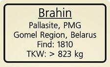 Meteorite label Brahin