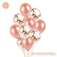 12 '' Confetti Balloon Chrome Metallic Balloon Birthday Party Wedding Decoration