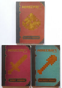 Minecraft HANDBOOKS PAPERBACK SET of 3 GUIDES (Combat, Construction, Redstone)