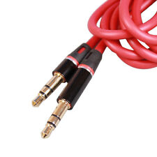 "Red 3.5mm 1/8"" Audio Cable AUX-In Cord Lead For Sony ZS-BTY50 Bluetooth Boombox"