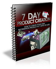 How To Create Your Own Hot Selling INFORMATION PRODUCT In 7 Days Or less (CD ROM