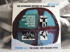 RIVERSIDE HISTORY OF CLASSIC JAZZ VOL. 3 & 4 LP EX+ RIVERSIDE MONO DG RLP 12-113