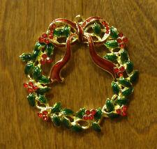 "Jeweled Kubla Crafts Ornament #Kc4580 Jeweled Wreath, From Retail Store Nib 1"""