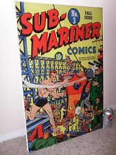 SUB-MARINE, No. # 3, Golden Age, COMIC BOOK COVER, Giclee Canvas,  PRINT ART