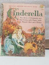 New listing Vintage Reprint - 1960 - Cinderella A Little Golden Activity Book