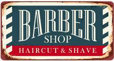 Barber Shop in metallo vintage con PARRUCCHIERE 30CM x 15CM Tin sign Targa a muro