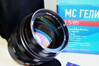 NEW! KMZ BLACK HELIOS-40-2 SUPER BOKEH 85mm f/1.5 RUSSIAN SLR lens M42 SUPER