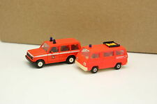 Rietze 1/87 HO - Set of 2 Mitsubishi L300 + Pajero Firefighters Feuerwehr
