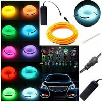 Flexible Neon LED Light Glowing EL Wire Strip Tube Car Dance Party Decoration