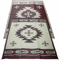 Outdoor Reversible Outdoor Patio/ RV Camping Mat Rug 9ft. x 12ft Navajo Breeze
