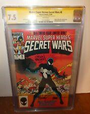 Marvel Comics Spiderman secret Wars 8 Black suit CGC 7.5 Signed Beatty Zeck