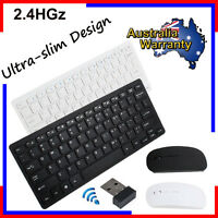 Ultimate Wireless 2.4GHz Keyboard and Mouse Combo Set for PC Laptop iMac Mac Lot