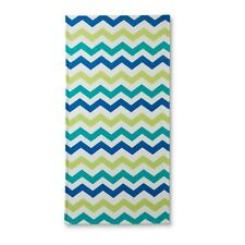 "Colormate White Blue Green Cool Chevron Beach Towel, 30""x60"""