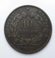 1872 France TEN 10 Centimes EF - Lot 178