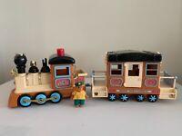 Vintage 1986 Mapletown Train Engine & Railcar rare Monkey Trainmaster, Sylvanian