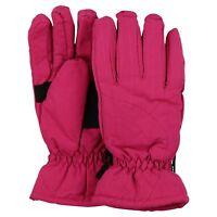 Women's Thinsulate Lined Waterproof Microfiber Winter Ski Gloves (Pink, Medium)