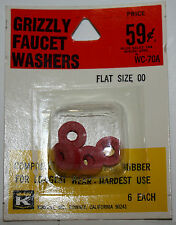 Kirkhill Inc. Grizzly Faucet Washers Flat size 00 Wc-70A Nos plumbing