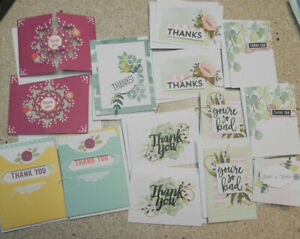 New - Package of 14 Handmade Thank You Cards